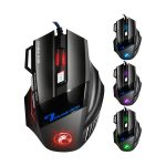 Gaming Muis 2400 DPI - iMice - 6 Knoppen - 4 RGB lichtmodes