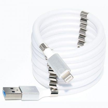 Supercalla-magnetische-oplaadkabel-voor-Apple-en-Android-wit