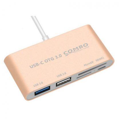 usb-c cardreader roze 2