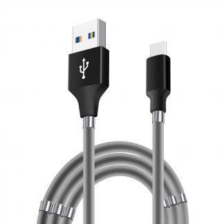 Supercalla magnetische oplaadkabel voor Apple en Android 14 usb-c grijs