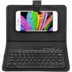Telefoonhoes met Bluetooth Toetsenbord zwart