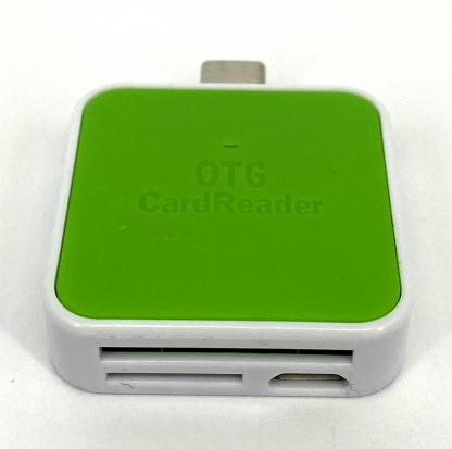 USB-C Cardreader SD kaart - Mico SD kaart gehugenkaartlezer groen 5