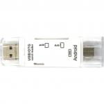 USB Cardreader SD Kaart + Micro SD Kaart - SD TF Wit 2